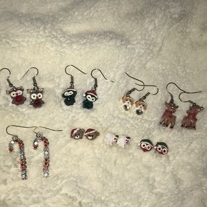Kids Christmas Earrings Set